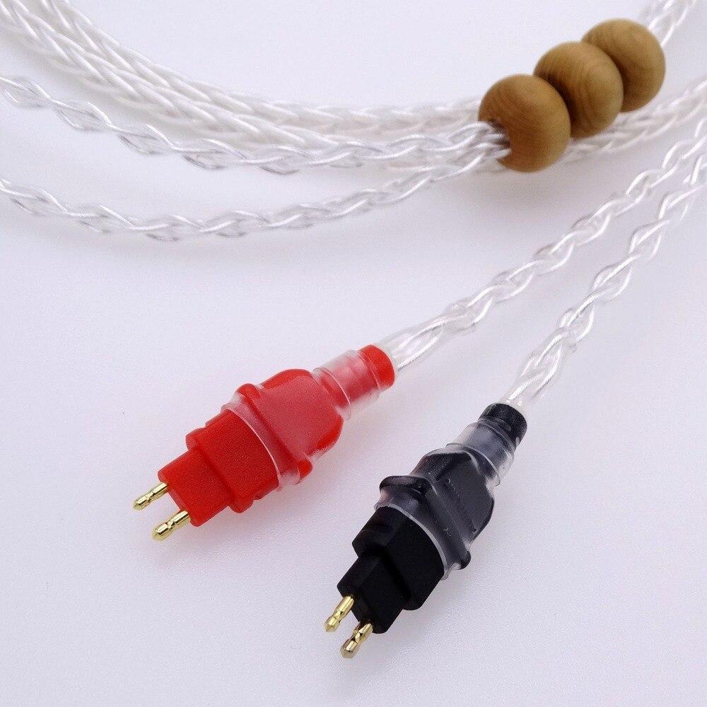 bilder für 1,2 mt 4FT Hallo-End Litz braid 8 Kerne 5n Pcocc silber überzogene Kopfhörer Upgrade Kabel für Sennheiser HD580 HD600 HD650 Kopfhörer