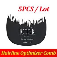 TOPPIK 헤어 라인 최적화 빗 머리 섬유 블랙 컬러 편리하고 빛 5 개/