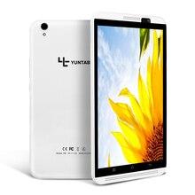 Yuntab 8 pulgadas 4g tableta H8 Android 6.0 Cuádruple CoreTablet PC con doble cámara, soporte de doble tarjeta sim Bluetooth 4.0
