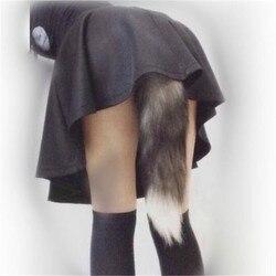 Аниме Косплей из хвоста лисицы унисекс Хэллоуин семья cos Реквизит пары жизнь флирта хвост Анальная пробка