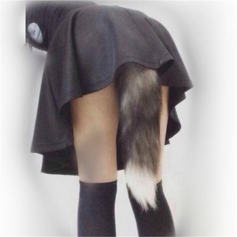 Novelty & Special Use Anime Cosplay Fox Tail Unisex Halloween Family Cos Props Couples Life Flirting Tail Anal Plug Wide Varieties