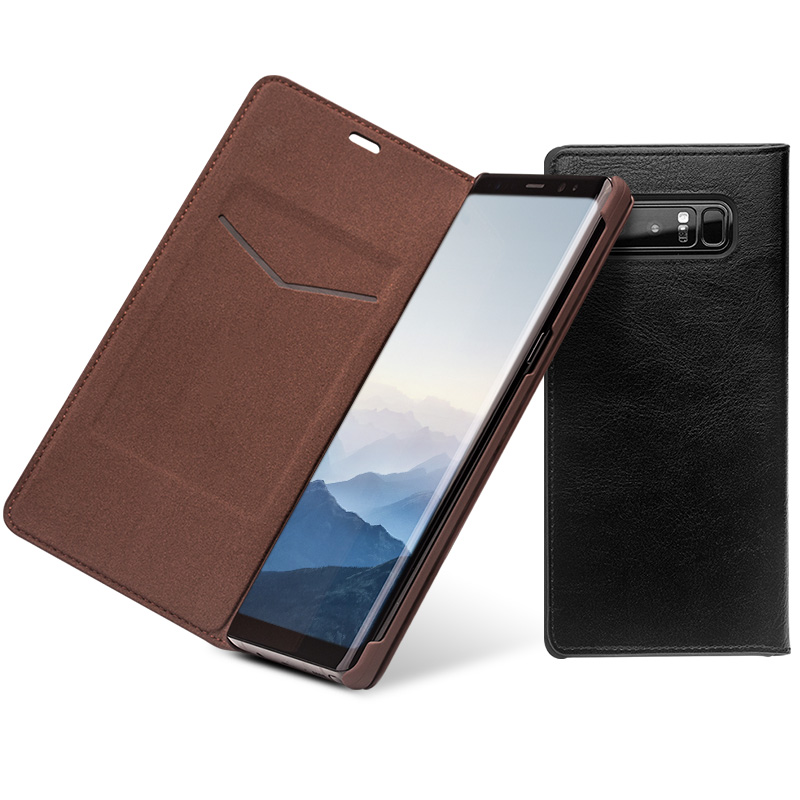 QIALINO Fashion Genuine Leather Cover Case for Samsung Galaxy Note 8 Luxury Ultrathin Card Slot Bag for Samsung note 8