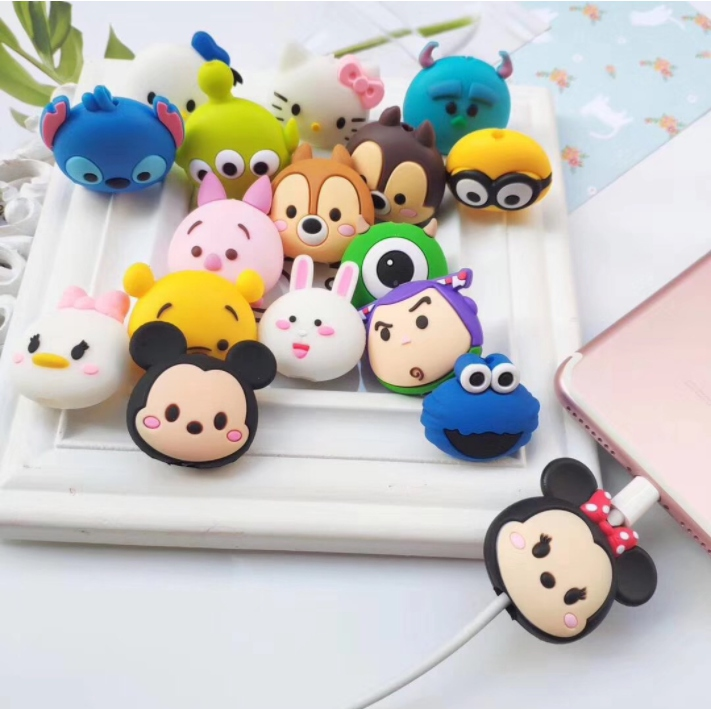 Cute Creative  Cartoon Animal Cable Protector Design  For Iphone Usb Cable Chompers Holder 9