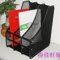 2018 New Creative office supplies Desktop metal wire mesh file holder Black storage information stationery rack