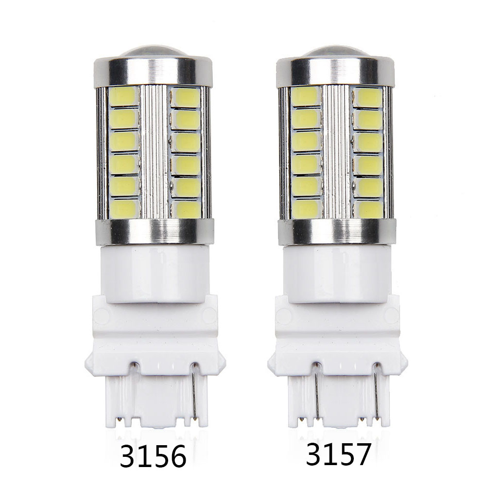 Automobiles & Motorcycles Useful 2pcs 3156 3157 Led High Power 33 Smd 5630 Led Amber Yellow Turn Signal White P27w T25 Car Bulbs Red P27/7w Car Light Source Lamp Fashionable Patterns
