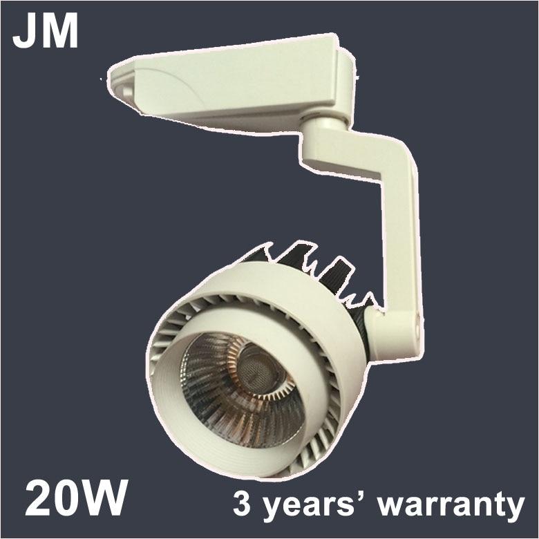 110V 220V 230V 240V Led track spotlight LED rail spot light lamp COB 20W LED  track
