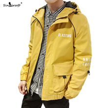 High Quality Autumn New Mens Zipper Jacket Male Casual Streetwear Letter Printing Slim Fit Coat Men White Hooded Clothing Hot