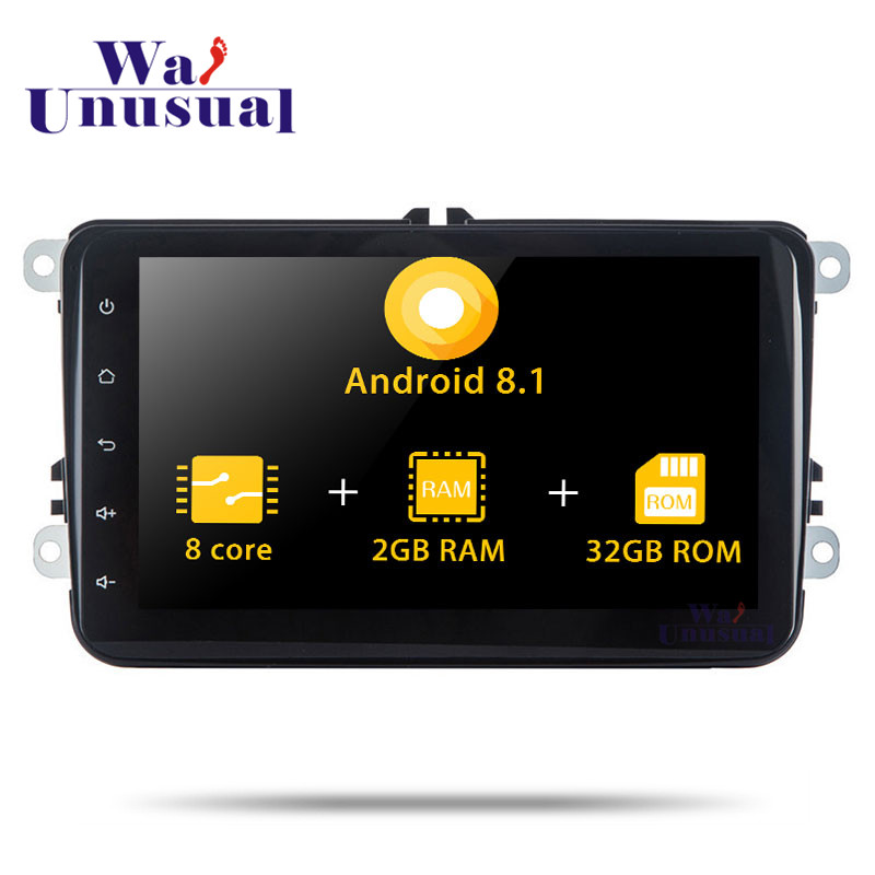 2 Din Autoradio Octa Core 8Inch Android 8.1 For VW Universal Stereo Car GPS Navigation Video Multimedia Player With BT WIFI Maps