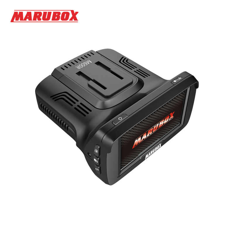 Marubox M600R 2 adet/grup araba dvr'ı GPS Radar Dedektörü 3 in 1 Çizgi kam video Registratori Otomatik Kamera Kaydedici Full HD 1296 P Dashcam