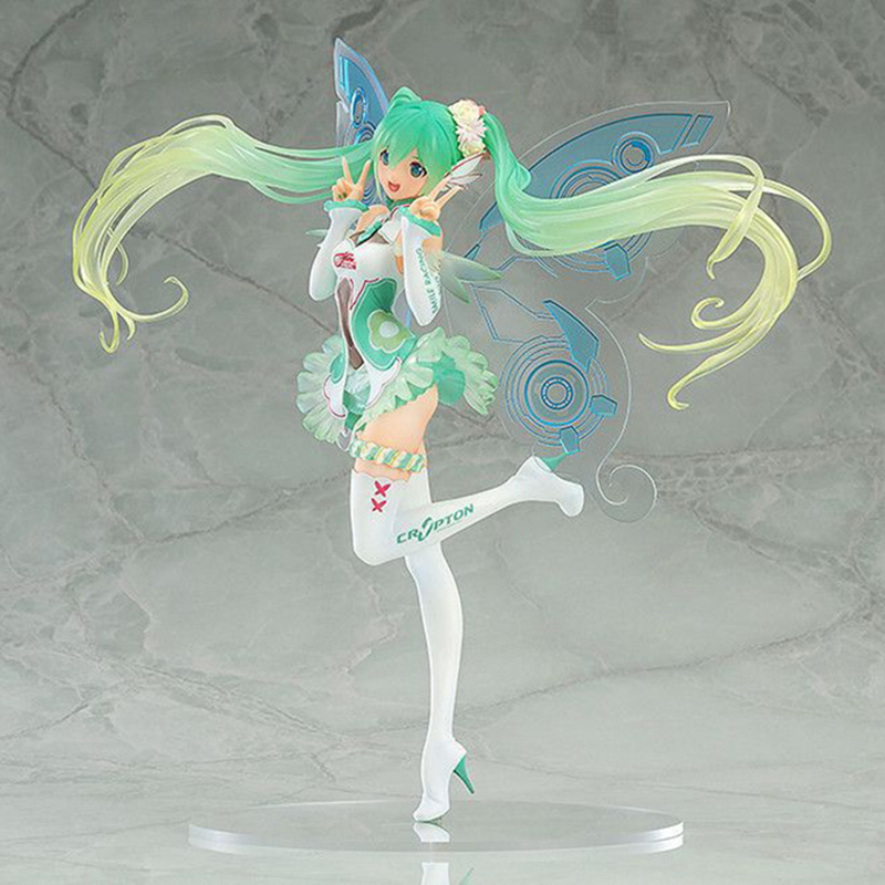 Anime Hatsune Miku 2017 Racing Miku Action Figure 1/7 scale painted figure Butterfly Miku PVC figure Toys stronger vocaloid hatsune miku anime figure 23cm pvc action figure 1 7 scale kimono miku model doll collection toys