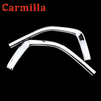 Carmilla 2pcs Set ABS Chrome Car Front Grill Net Trim Sticker Decoration For Toyota Innova 2016
