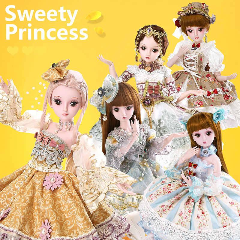 UCanaan 23,6 ''BJD SD кукла 19 шаровых суставов куклы в одежде наряд обувь парик Макияж для девочек подарок и куклы Коллекция