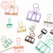 Mr Paper 8 Colors 3 Sizes Ins Gold Sliver Rose Green Purple Binder Clips Large Medium Small Office Study