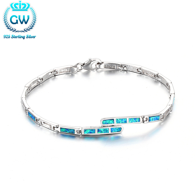 925 pulsera de plata del ópalo 2015 new european style wedding & engagement joyería marca gw fb091