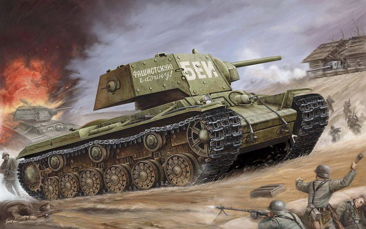 1 35 World War Ii Soviet Kv 1 Armored Tanks Military Assembly Model Chariot Military Vehicles