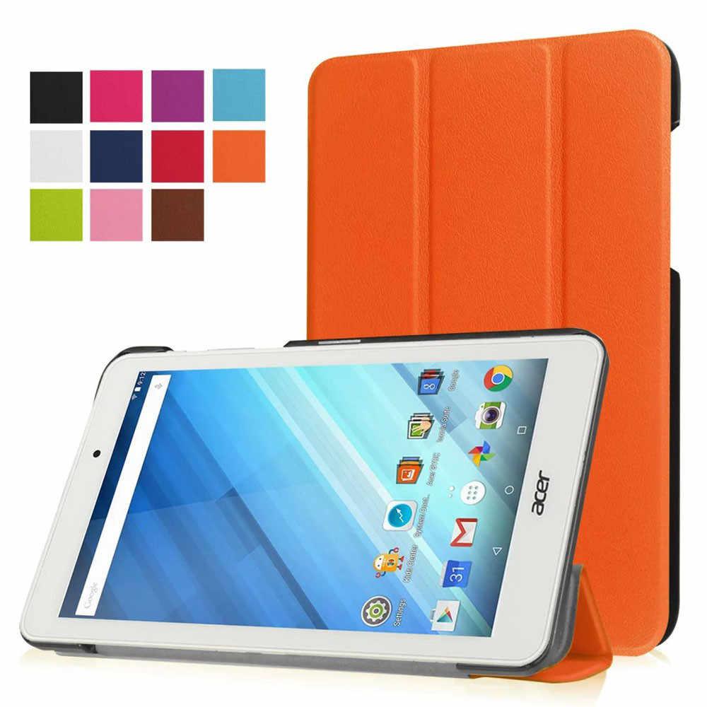สีสันสดใสขนาดกะทัดรัดน้ำหนักเบา PU หนังหนังสำหรับ Acer Iconia One 8 B1-850 8 นิ้ว