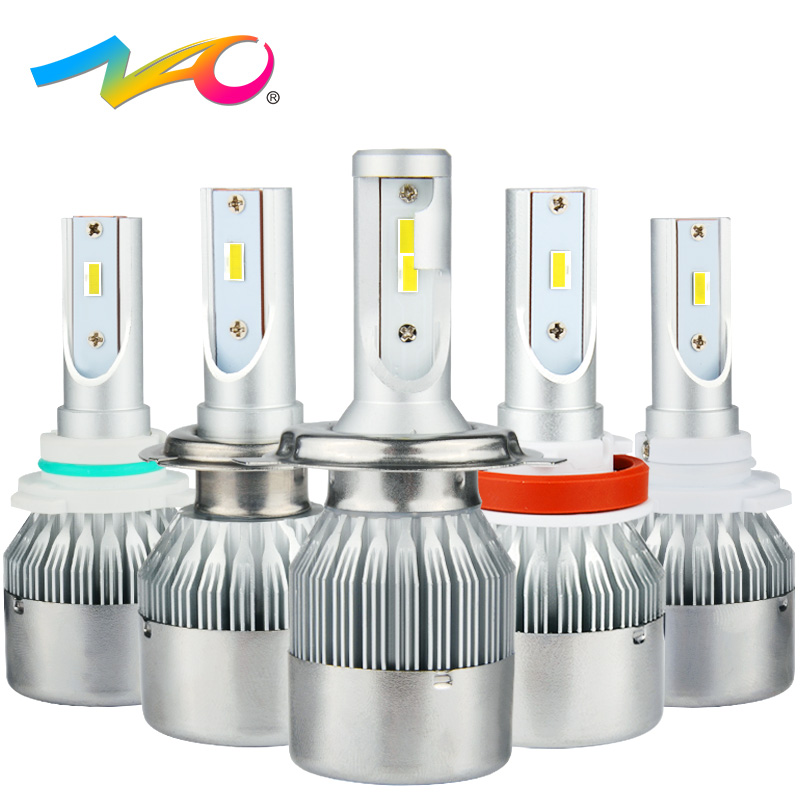 NAO led h7 led h4 h1 led bulb auto h11 bulbs car headlights hb4 9006 lights hb3 9005 lamp h8 h9 Auto Headlamp 72W 7600LM 6000K hot new h1 headlight bulbs 10000lm h4 led 9v 12v 24v 36v 9005 hb3 9006 hb4 h7 led car lights 6000k 100w h8 h9 h11 cob spot lamp