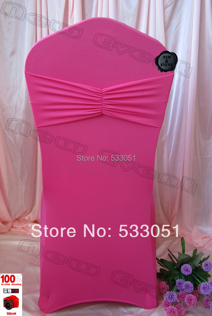 Hot Pink Spandex Chair Covers Swivel Manufacturers Cover Lycra With Ruffle Bands For Wedding Decoration Party In From Home Garden On Aliexpress Com