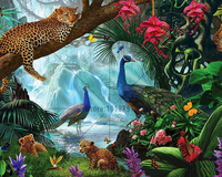 Diy Diamond Painting Animal Embroidery Painting Leopard Full Drill Cross Stitch Crystal Square Diamond Sets Unfinish