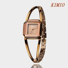 KIMIO Women Fashion Bracelet Wristwatches Stainless Steel Lady Wristwatches Quartz Casual Watches For Women