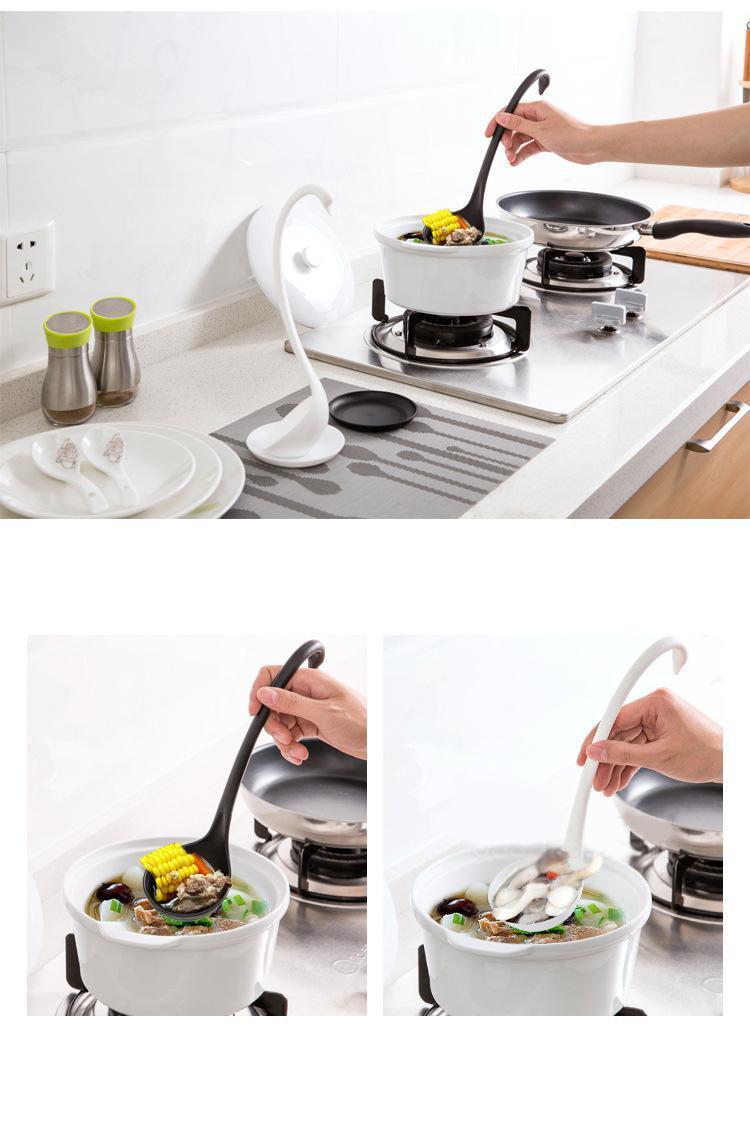 Innovation Küchenutensilien Kreative Swan Suppe Löffel Mit Fach ...