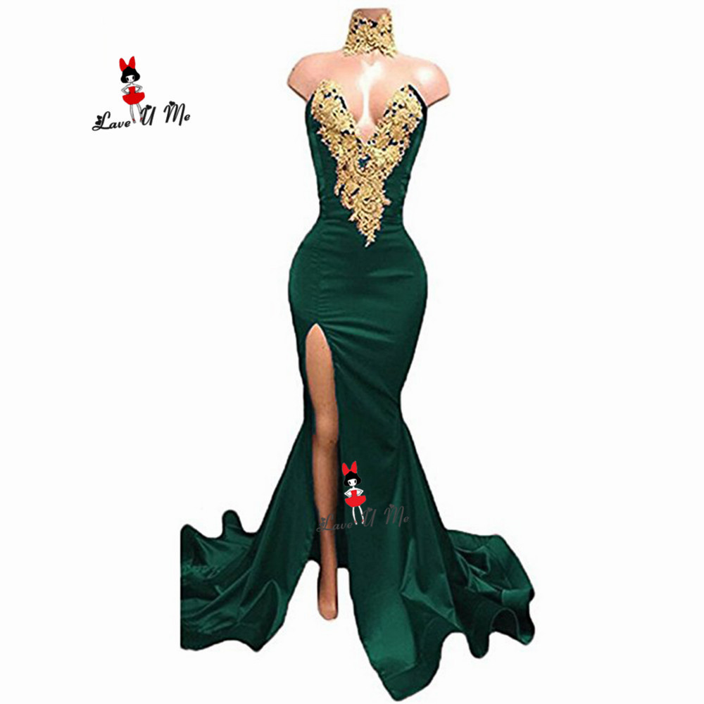 Royal Blue Mermaid Red Carpet Women Celebrity Dresses Sexy V-neck Pleat Ruffles Abiye Gece Elbisesi Abendkleider 2019 Weddings & Events