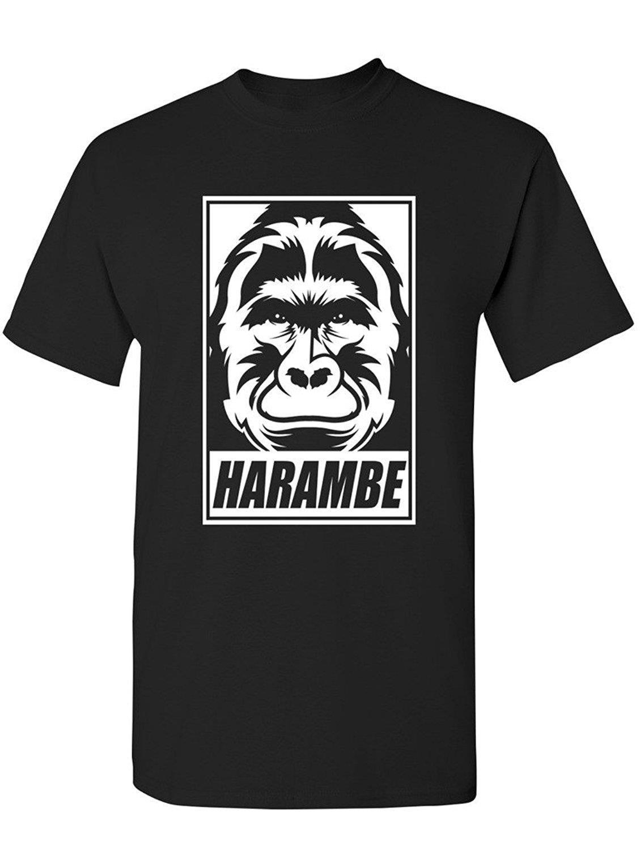 Shirt rip design - Design T Shirt Short Sleeve Fashion 2017 Crew Neck Manateez Men S Rip Harambe Face Tee Shirt