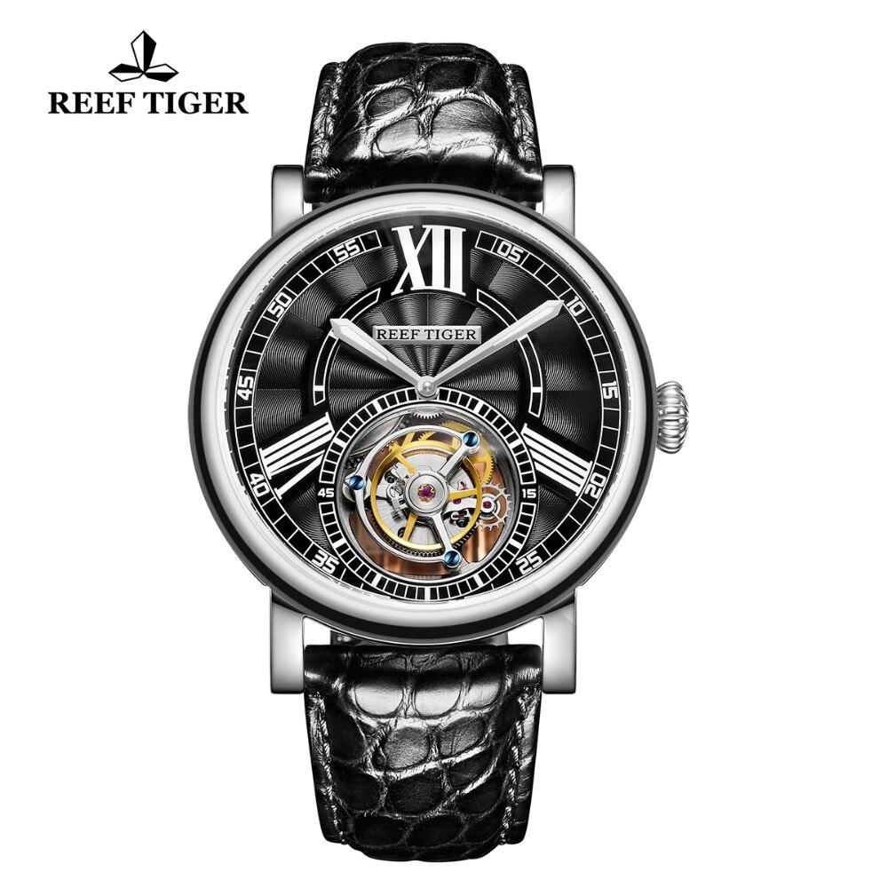 2019 Riff Tiger/rt Luxus Uhren Für Männer Tourbillon Uhren Stahl Alligator Strap Wasserdicht Casual Automatische Uhr Rga1999 Hohe Sicherheit