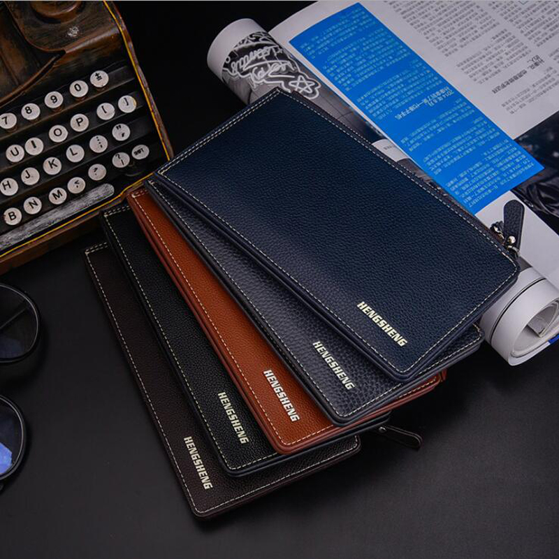 New Business Men Wallet Embossed Long Paragraph