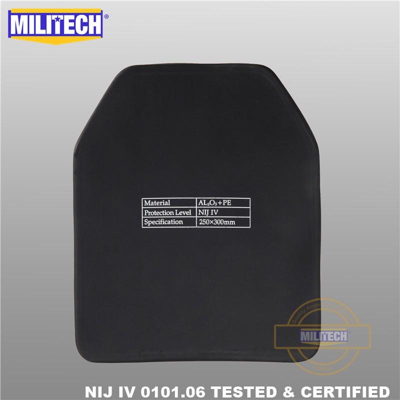 MILITECH 알루미나 및 PE NIJ IV 방탄 플레이트 Al2O3 산화 - 보안 및 보호 - 사진 5