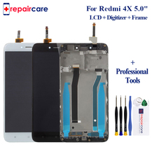 Original LCD Assembly with Frame for Xiaomi Redmi 4X LCD Display + Touch Screen Digitizer Assembly Replacement+Frame цена