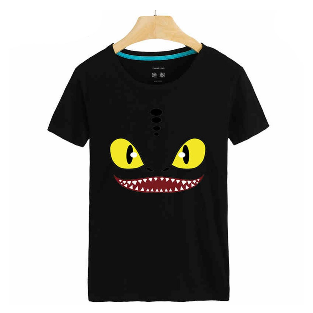 Toothless How to Train Your Dragon T Shirt Adult Men Women Black Cotton O-neck 3D Print T-Shirt