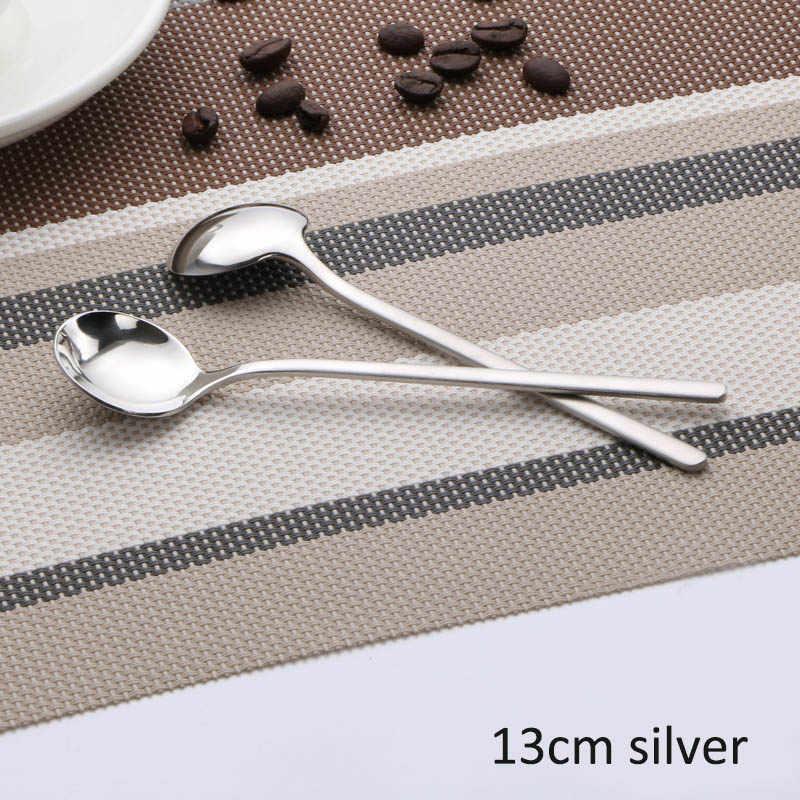 Dessertspoon de la vajilla de agitadores 13 cm/17 cm taza accesorios de acero inoxidable en forma de utensilios de cocina cuchara de café