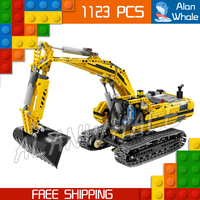 1123pcs New Techinic Remote Controlled Motorized Excavator 20007 DIY Model Building Kit Blocks Gifts Toys Compatible