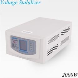 220V automatyczny domowy 2000w niskonapięciowy automatyczny stabilizator napięcia ac komputer lodówka TV zasilacz TM-2