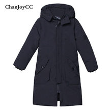 ChanJoyCC Winter Hot Sale Children's Coat Baby Boys Long Sleeve Fashion Windproof Thickening Soft Warm Long Outerwear For Kids