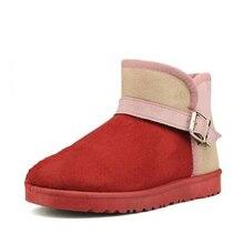 2016 l'uem Mode Femmes En Daim Doux Hiver Chaud Bottes de Neige Plat Cheville Peluche bottes courtes femmes neige bottes s670(China (Mainland))