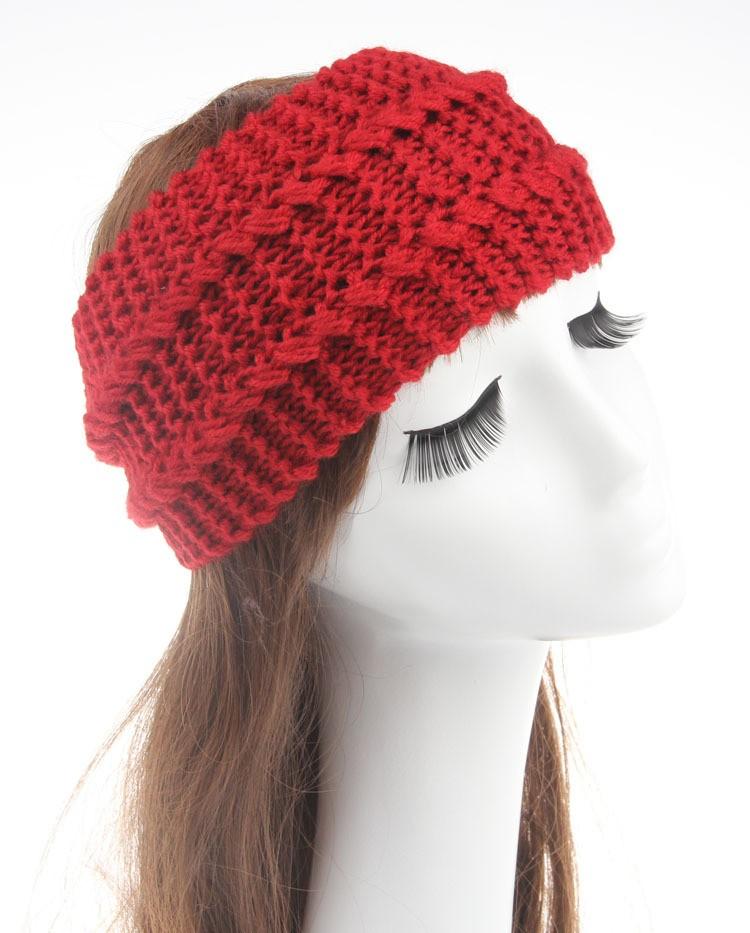 Gestrickte Turban Stirnband Häkelarbeitstirnband Muster Frauen ...