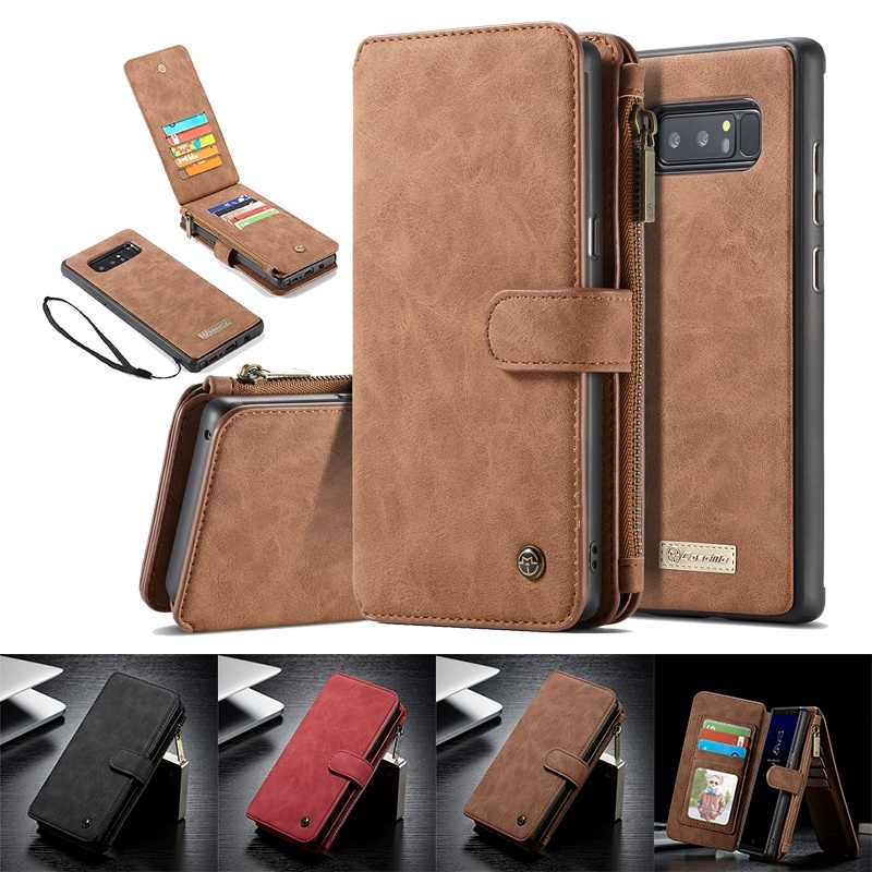 Genuine Leather Wallet Case for Samsung S10 Note 8 9 S7 Edge S8 S9 Plus Flip Cover for iPhone XS Max XR X 6 6s 7 8 Plus 5 5s SE
