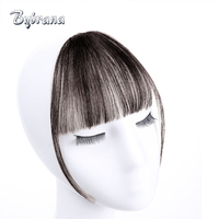 Bybrana Human Bangs 4 Colors Remy Hair Short Clip In Natural Color Hair Human Hair Extensions