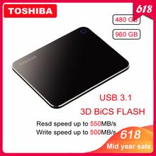 100% Toshiba XS700 External Solid State Drive Portable SSD 480GB 960GB USB 3.1 High Speed Type-C Mobile Hard Encrypted