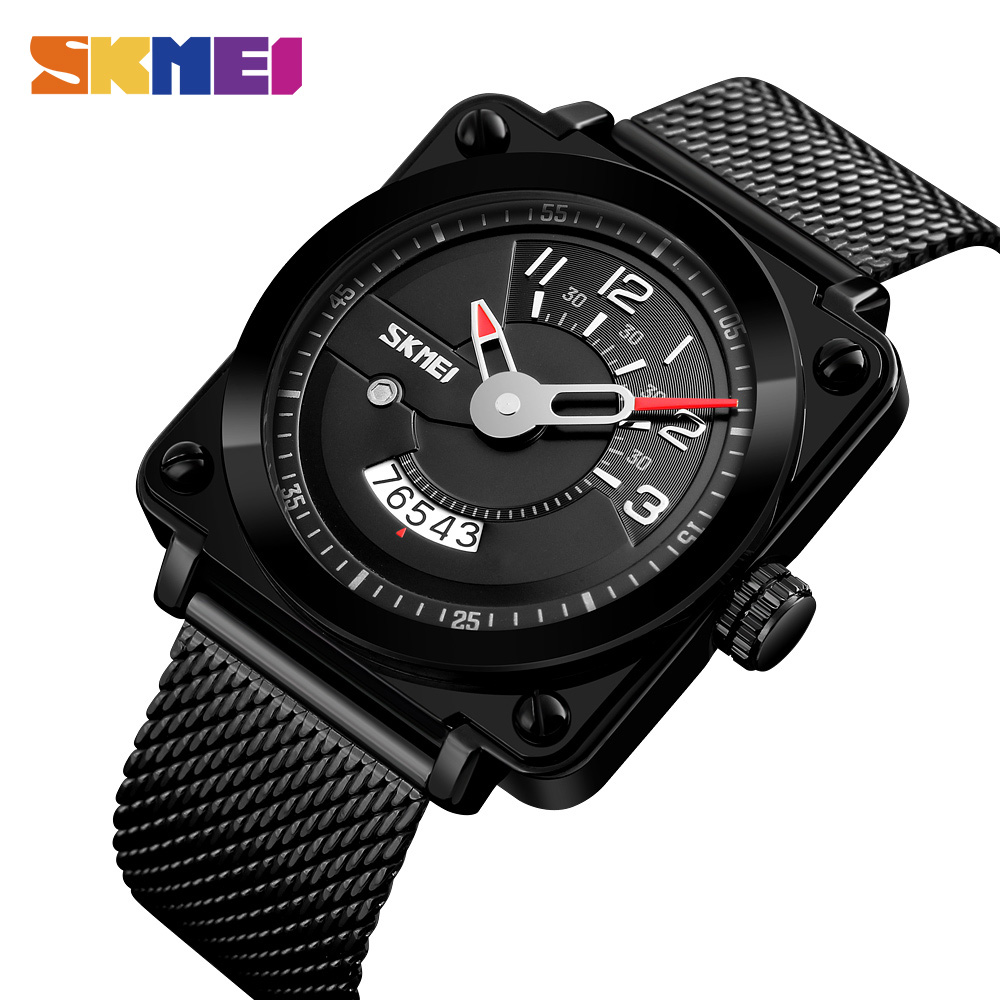 SKMEI Fashion Men Watch Stainless Steel Quartz Watches Top Luxury Brand Waterproof Wristwatch Male Relogio Masculino 9172 new 2017 men watches luxury top brand skmei fashion men big dial leather quartz watch male clock wristwatch relogio masculino
