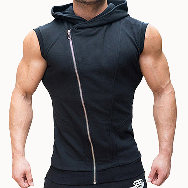 Mens Sleeveless T-shirt Bodybuilding Stringer Tank Tops Men Gyms Stringer  Shirt Fitness Tank Top Men Gyms Clothing Vest Hoodies 10fb151bd