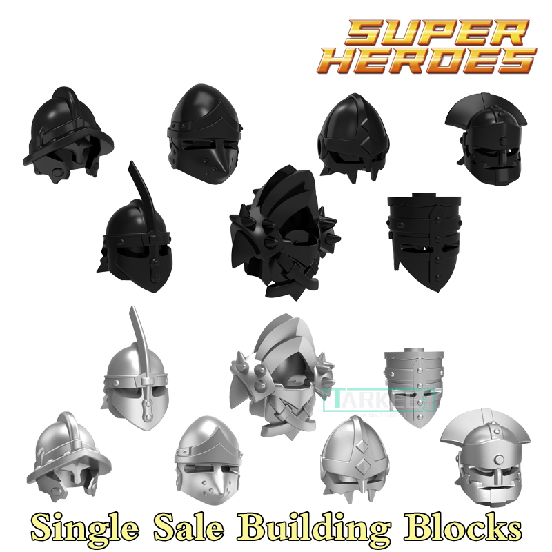 Figures Ancient War Gold Helmet  DIY Super Heroes Building Blocks Sets Model Bricks For Children Kids Educational Toys Hobbies single building blocks kits ninja pythor kozu lloyd zane nya figures super heroes star wars model bricks kids toys hobbies x0143