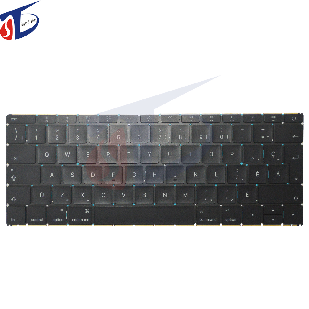 цены Original for Apple Macbook retina 12inch A1534 Canadian French CA FR keyboard without backlight backlit Early 2015 year