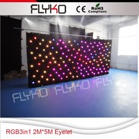 Free shipping 2x5m all sides with eyelet hung up led celling decoration high quality