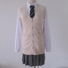 Japanese JK V-neck sleeveless cardigan vest sweater