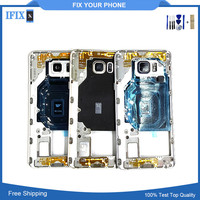 For Samsung Galaxy Note5 N920 Original Middle Frame Mid Bezel Metal Frame Housing Chassis With Parts
