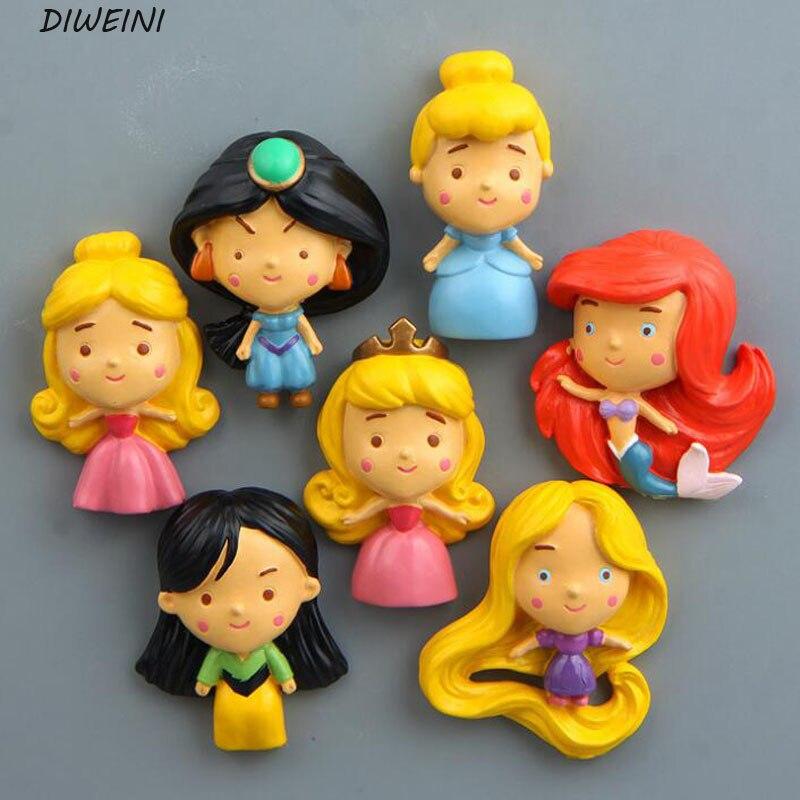 1 шт./компл. Творческий принцесса творческие миниатюрные Игрушечные лошадки фигурку игрушки магнит на холодильник детей подарок на день рож...