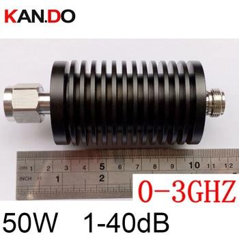 long size 50W RF attenuator N male DC-3Ghz 1-40DB attenuation feeder connector RF COAXIAL jack RADIO Attenuator 3Ghz 40dB